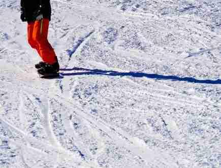 person on snow board