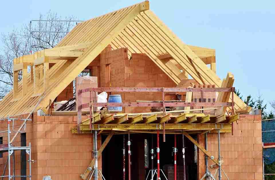 a house building site