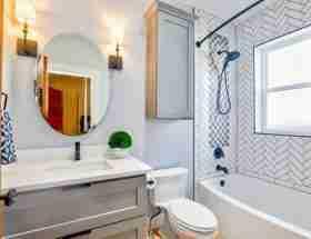 remodeling a bathroom: new bathroom.