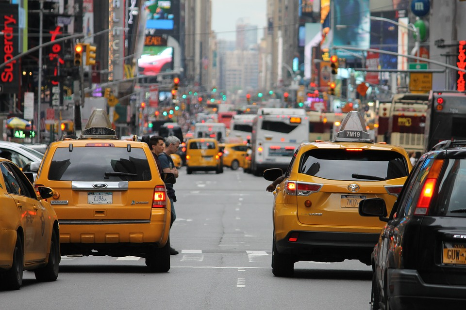Business Trip Expenses: yellow taxis in NYC.