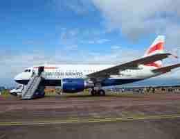 Visiting the UK: BA plane on runway