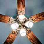 ceiling fans: wooden lighted ceiling fan.