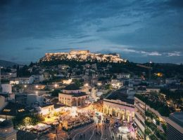 travel guide for over 50's: Athens at night.