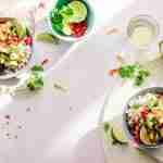 health after a setback: plates of vegetables.