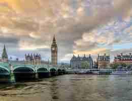 London this Autumn: Westminster Bridge with Big Ben.