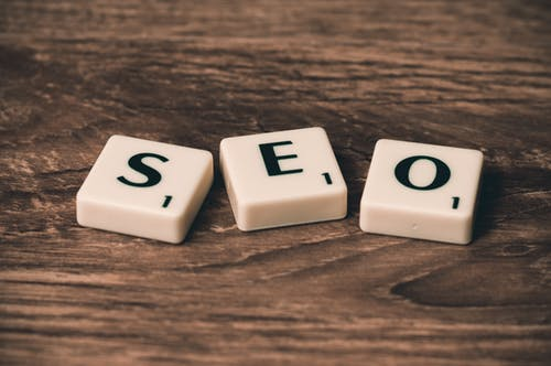 SEO in Scrabble pieces - blog from hobby to business