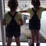 dress your twins the same: my twins at the airport