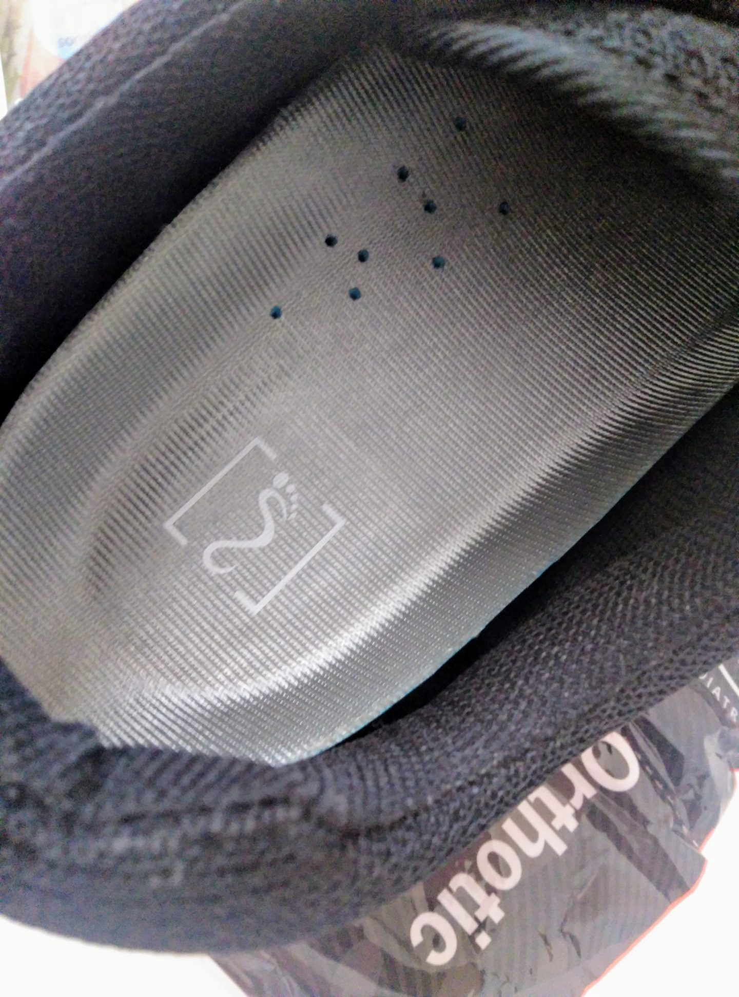 image of shoe and orthotic insole