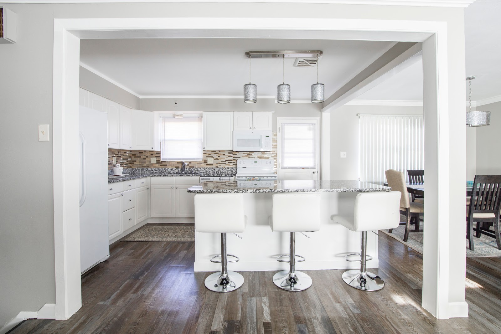 kitchen and open plan dining area create the perfect kitchen