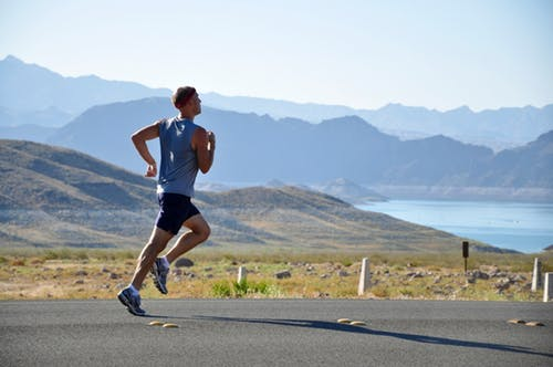 man jogging in mountains: gentleman for hire.