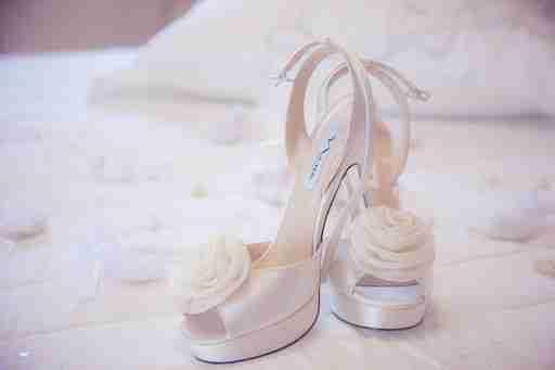 enjoying your wedding: pair of wedding shoes