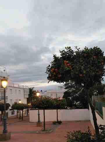 Patio in Nerja in evening.