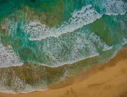 aerial image of sea in puerto rico