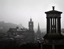 most iconic buildings in Scotland: skyline of Edinburgh
