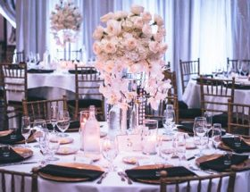 choosing a wedding venue: set tables