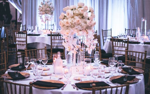 choosing a wedding venue: set tables