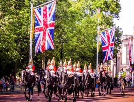 Become British: parade on the Mall