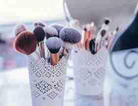 collection of vegan makeup brushes