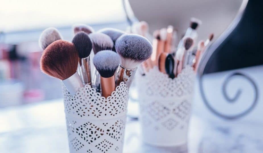 collection of vegan makeup brushes
