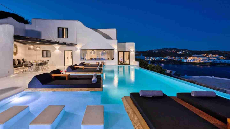 Villa Atelier, pool view, Mykonos