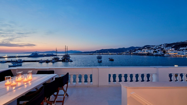 Villa Amour view to Mykonos town: Mykonos villas
