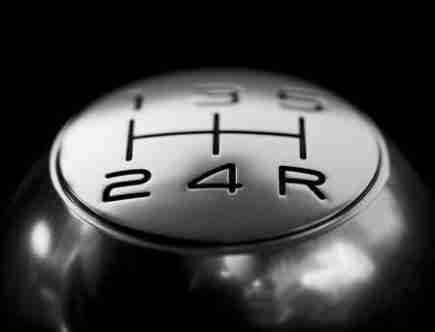 best car finance option: silver coloured gear stick.
