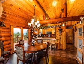 log home plans: inside of log home