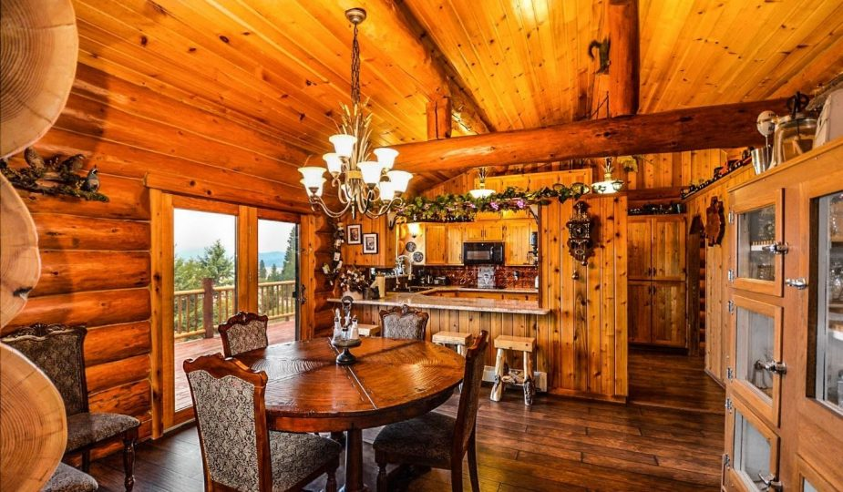 log home plans: inside of log home