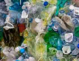 dumpster rental: bags of plastic waste