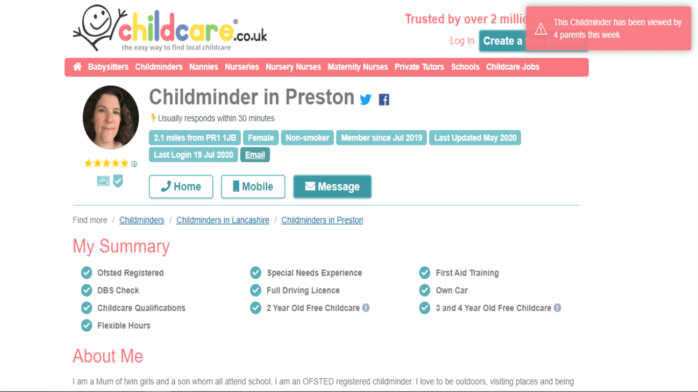 Childcare.co.uk Review - The best site to find last-minute childcare