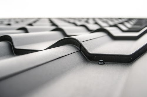 switch to a metal roof: close up of metal roof.
