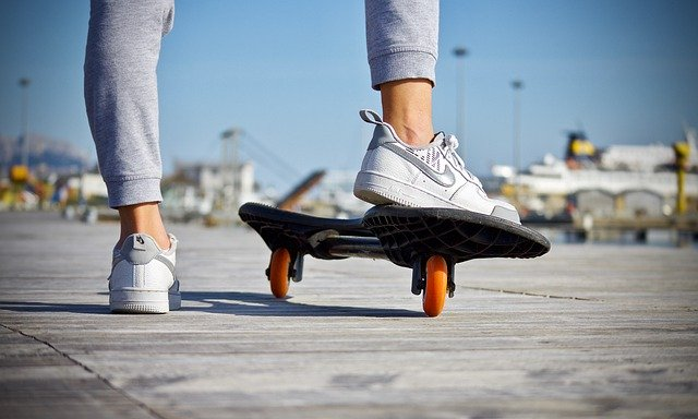 woman on skateboard exercise is necessary for flawless skin