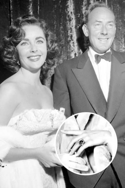 The Many Engagement Rings Of Elizabeth Taylor Michael Wilding