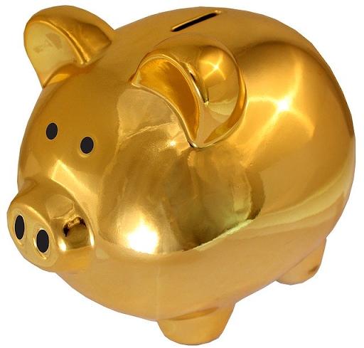 boosting your savings: golden piggy bank