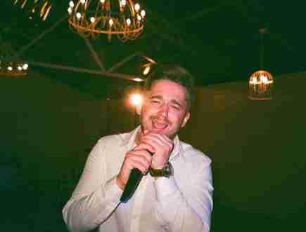 man singing: buying a used karaoke system