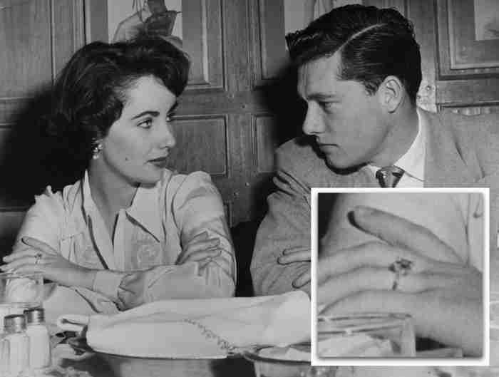 The Many Engagement Rings Of Elizabeth Taylor Conrad Hilton Jr.