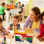 childcare centre managers: children playing at childcare centre.
