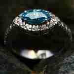 how to price a diamond: blue diamond ring