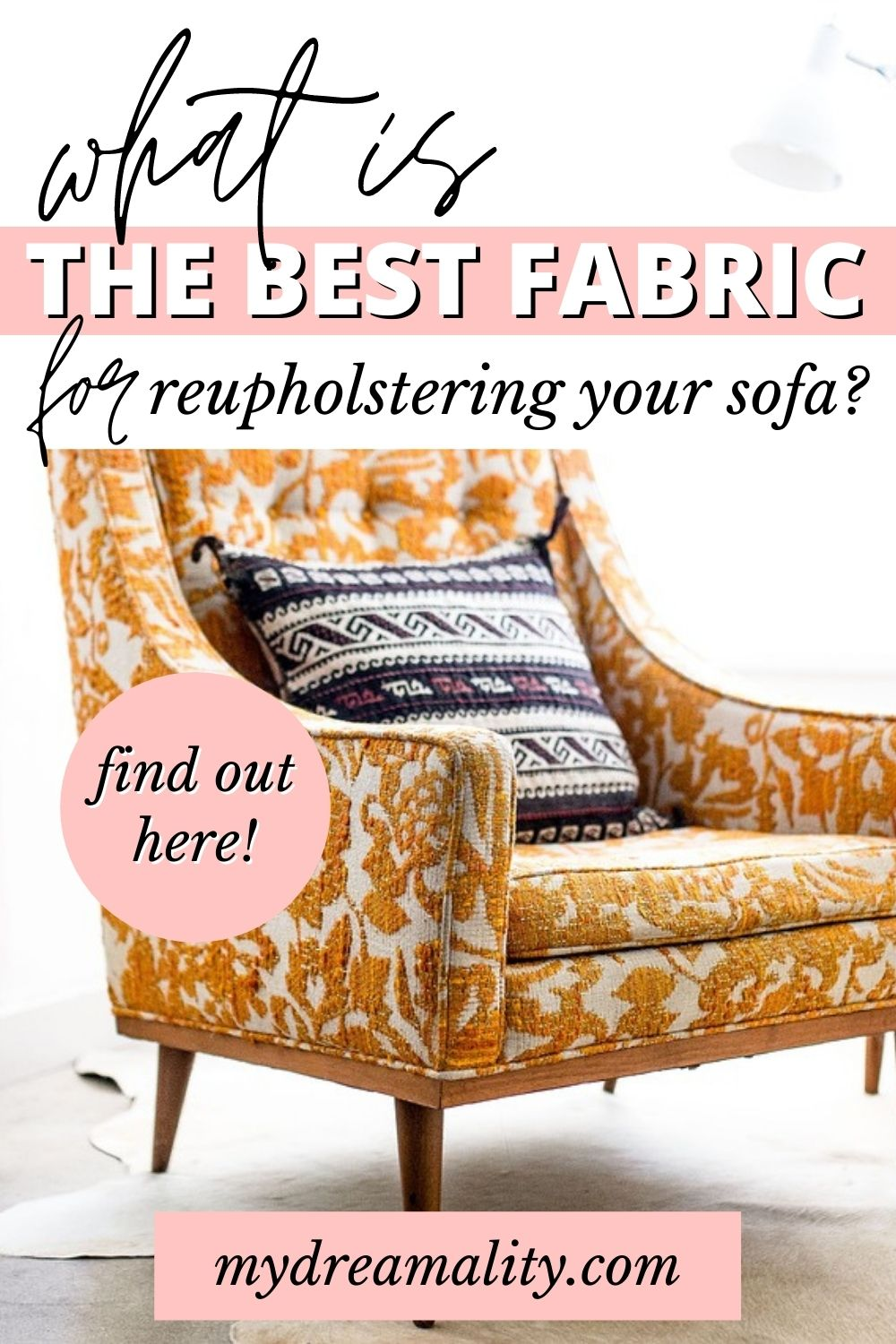 What is the best fabric to use for reupholstering a sofa?