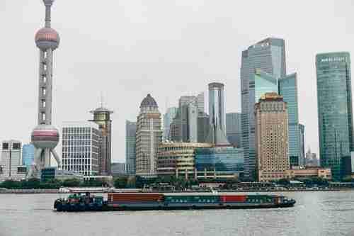 best restaurants in Shanghai. Shanghai from the River.