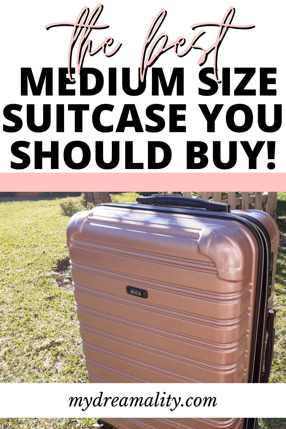 The best medium size suitcase for you - Rock Luggage review