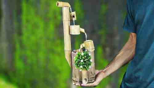 indoor bamboo water fountain