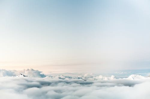private charter service: sky above clouds